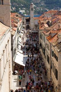 Placa Stradun in Dubrovnik. Kroatien