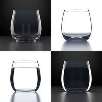 Empty Water Glasses set