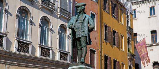 San Bartolomeo square located at Venice, Italy