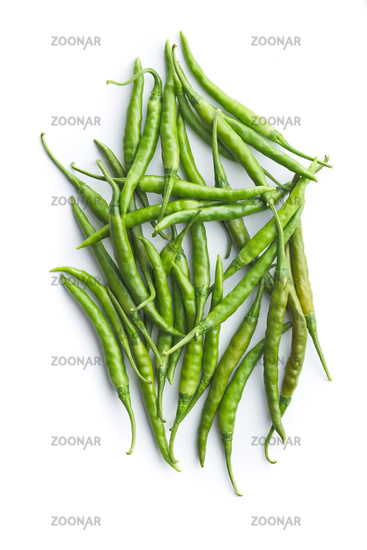Green chili peppers.