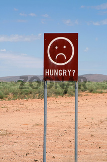 Schilder in Namibia. 007