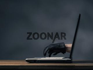 Cyberterrorism or hacking concept