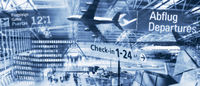 International airports and air travel