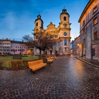 Saint Jacob Cathedral in the Morning, Innsbruck, Tirol, Austria