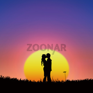 silhouette of lover