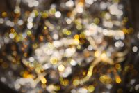 Glowing Golden Lights Background, Disco, Celebration Or Christmas Texture