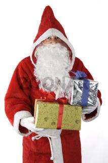 Weihnachtsmann mit Geschenken
