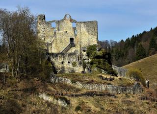Lautertal, Ruine Bichishausen, Schwäbische Alb, Deutschland