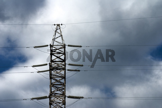 Sideview of electricity pylon