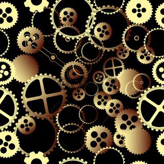 Clockwork gears pattern