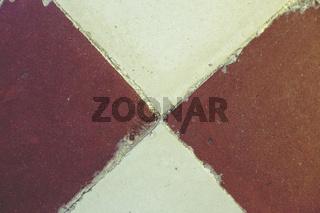 Ein alter Fußboden - Terracotta