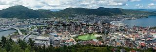 Panoramic view of Bergen, Norway
