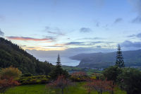 HDR of sundown on the Azores, Portugal