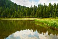 Lake in Carpathians mountains