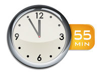 office wall clock timer 55 minutes