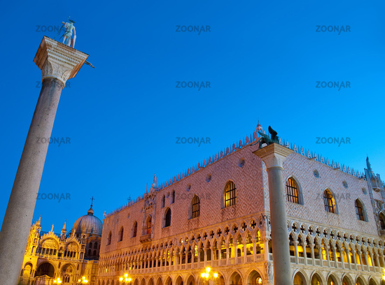 Palazzo Ducale building located at Venice, Italy