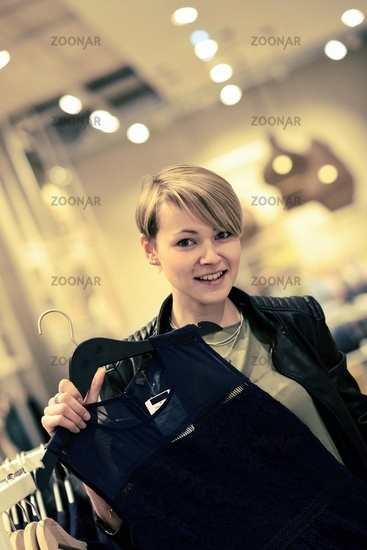 Young female shopping