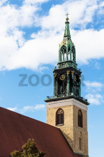 tower of St Mary's Church (Marienkirche) in Berlin
