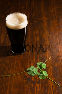 Black beer and shamrocks