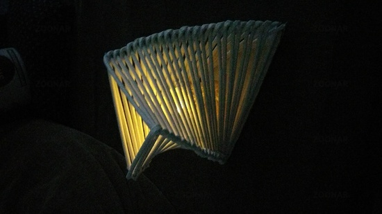 Self -made lamp made of paper