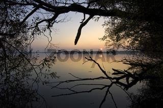 Duemmer See, Sonnenuntergang, Wasser, Spiegelung, Niedersachsen, Natur, Ufer, Deutschland, sunset, reflection, duemmer lake, germany