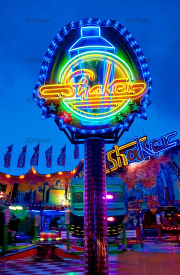 Hamburg, Germany, Funfair Ride