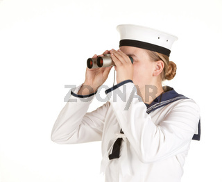 navy seaman with binoculars