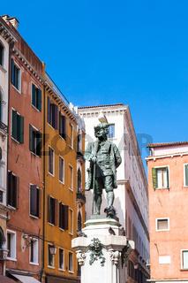 sculpture of Carlo Goldoni on Campo San Bartolomeo