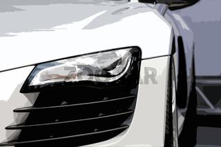dynamischer Sportwagen II