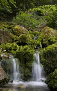 Fliessendes Wasser Schwaebische Alb, neidlingen, wasserfall, baden-wuerttemberg, deutschland, waterfall, water, south-west germany, swabian alb