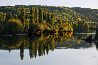 Dordogne im Abendlicht, Perigord, Aquitanien, France