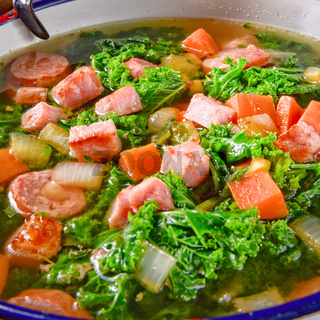 a tasty kale soup