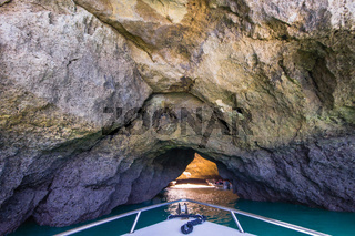 Limestone cave on the Algarve, Portugal