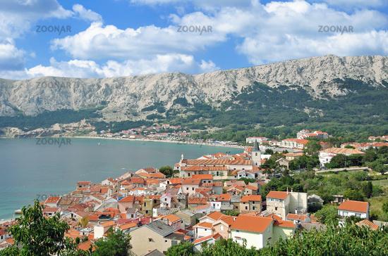 Village of Baska on Krk,adriatic Sea,Kvarner Gulf,Croatia