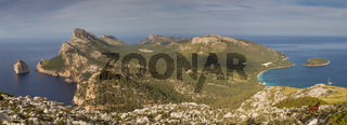 Panorama of Cap Formentor Peninsula