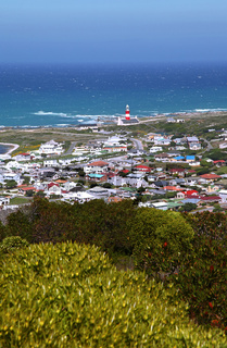 Am Kap Agulhas in Südafrika, dem südlichsten Punkt Afrikas, at Cape Agulhas in South Africa, the most southern point in Africa