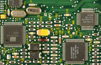 Digital circuit close up