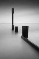 The groynes Casiter on Sea
