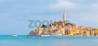 Panoramic view on old town Rovinj, Croatia.