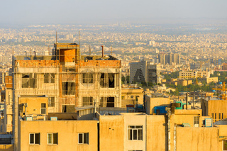 Tehran view at sunset. Iran