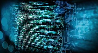 Programmiercode mit technischen Hintergrund