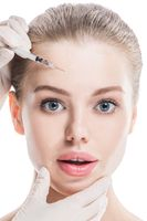 Cosmetic injection to female face