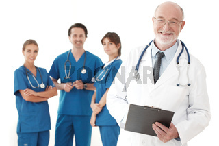 Team of doctors and nurses