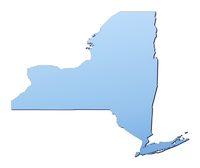 New York(USA) map