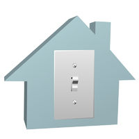 Electricity house switch on electric light at home