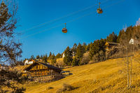 cable car in alpine landscape