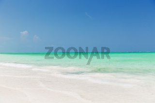 sea and sky on exotic tropical beach