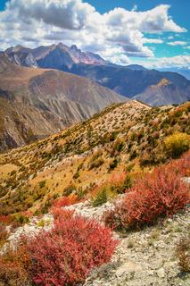 Stunning mountain landscape in Yunnan