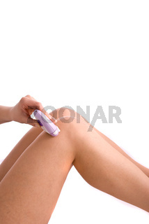 Epilation process isolated on a white background