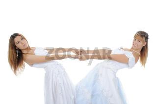 Two beauti bride